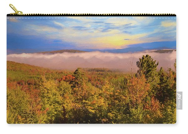 Morning Autumn Landscape Northern New Hampshire Carry-all Pouch