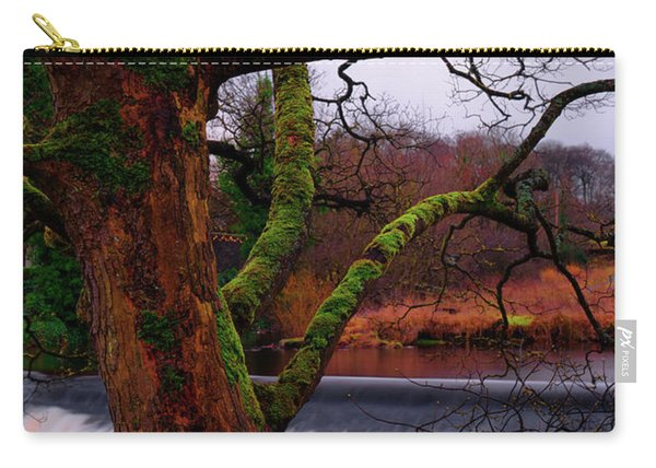 Mossy Tree Leaning Over The Smooth River Wharfe Carry-all Pouch