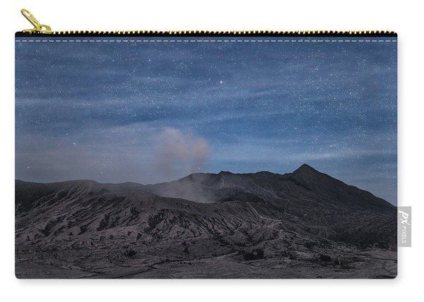 Mount Bromo With Stars - Java Carry-all Pouch