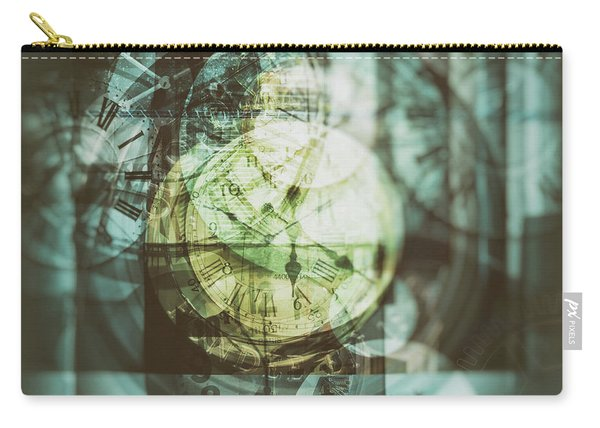 Carry-all Pouch featuring the photograph Multi Exposure Clock   by Ariadna De Raadt