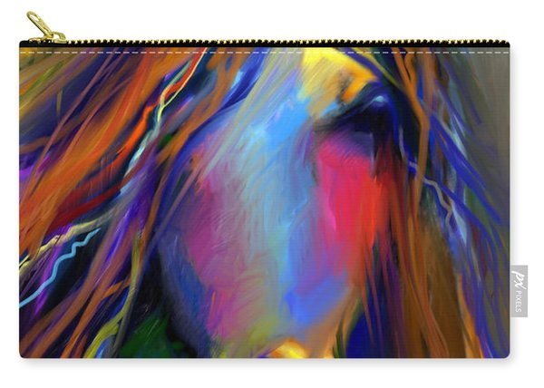 Mustang Horse Painting Carry-all Pouch