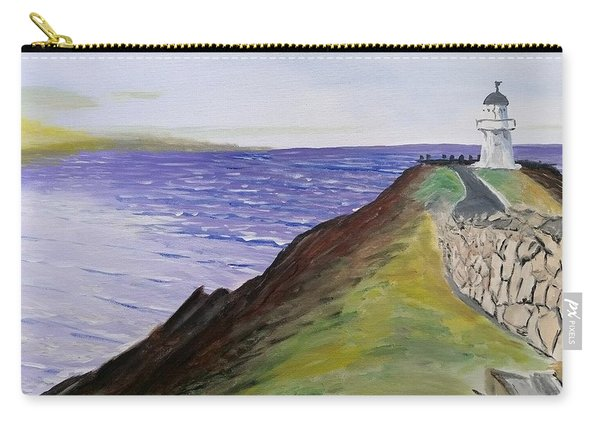 Carry-all Pouch featuring the painting New Zealand Lighthouse by Kevin Daly