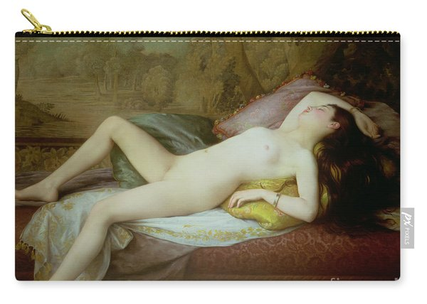 Nude Lying On A Chaise Longue Carry-all Pouch