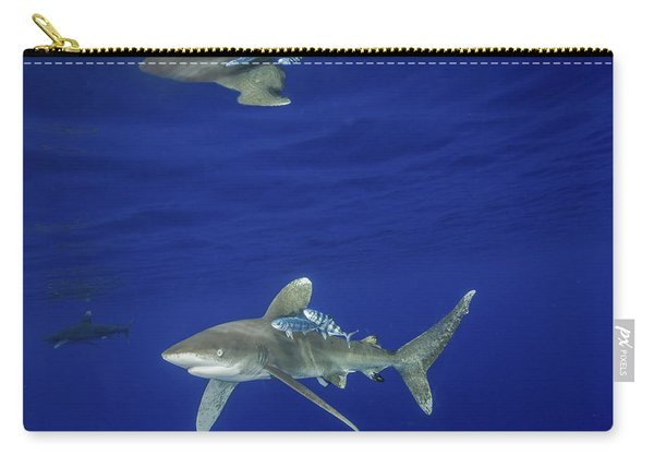 Oceanic Whitetip Shark With Reflection Carry-all Pouch