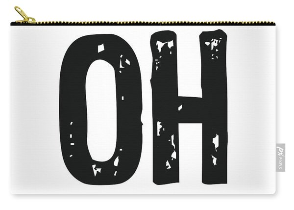 Oh - Minimal Wall Decor Print Carry-all Pouch