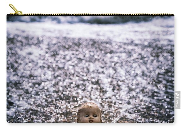 Old Doll On The Beach Carry-all Pouch
