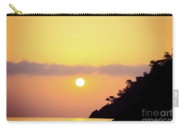 Orange Sunrise Above Sea Carry-all Pouch
