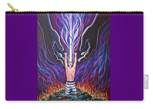 Carry-all Pouch featuring the painting Out Of The Ashes by Nancy Cupp