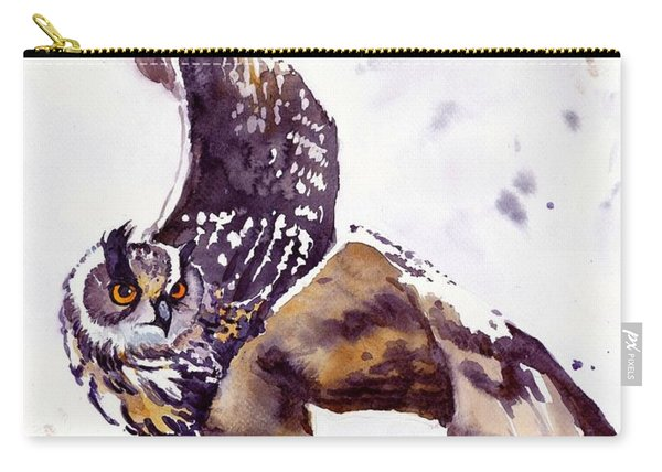 Owl Watercolor Carry-all Pouch