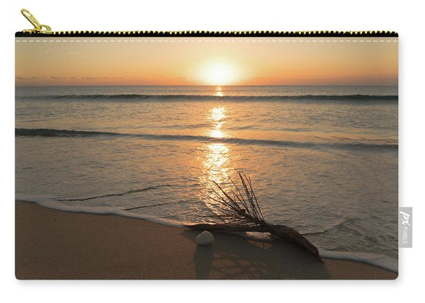 Palm Frond Coral Sunrise Delray Beach Florida Carry-all Pouch