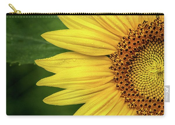 Partial Sunflower Carry-all Pouch