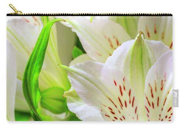 Carry-all Pouch featuring the photograph Peruvian Lilies In Bloom by Richard J Thompson