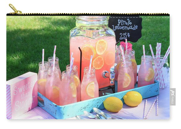 Pink Lemonade At Picnic In Park Carry-all Pouch