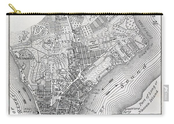 Plan Of The City Of New York Carry-all Pouch