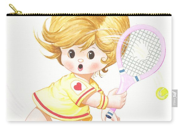 Playing Tennis Carry-all Pouch