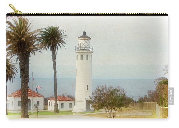Point Vincente Lighthouse, California In Retro Style Carry-all Pouch