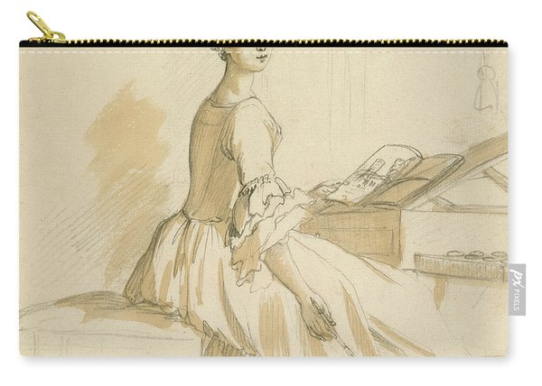 Portrait Of A Lady At A Drawing Table Carry-all Pouch