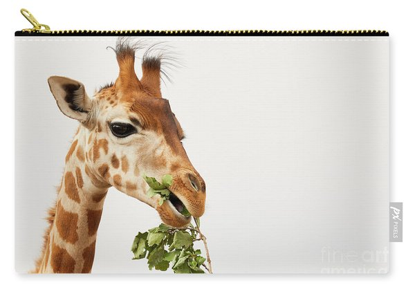 Portrait Of A Rothschild Giraffe  Carry-all Pouch