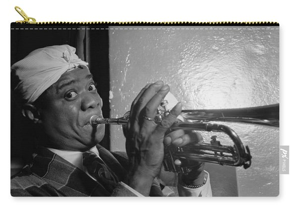 Portrait Of Louis Armstrong Carry-all Pouch
