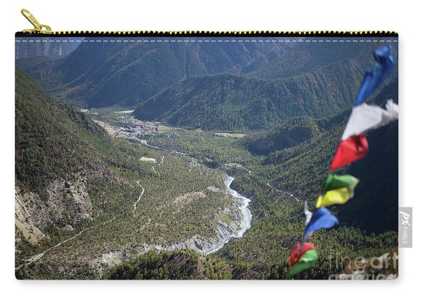 Prayer Flags In The Himalaya Mountains, Annapurna Region, Nepal Carry-all Pouch
