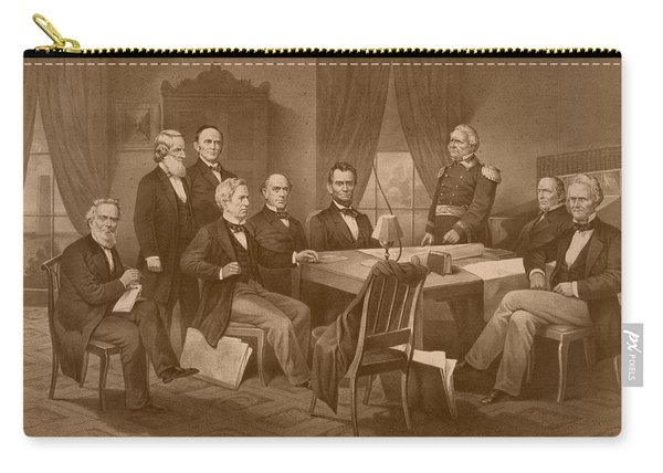President Lincoln - His Cabinet And General Scott Carry-all Pouch