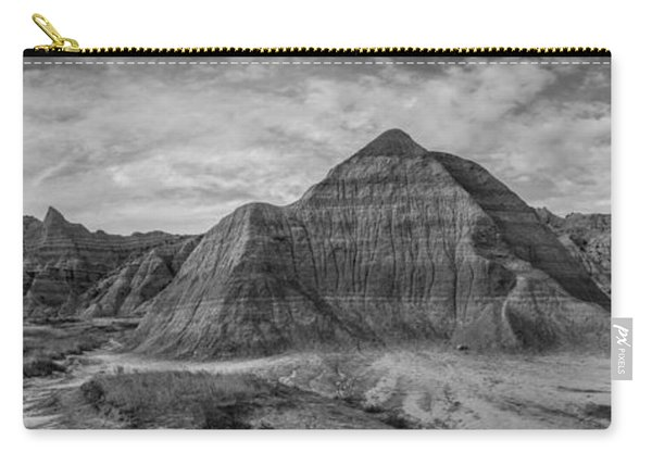 Pyramid In The Badlands Panorama Carry-all Pouch