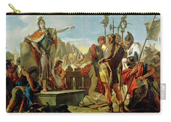 Queen Zenobia Addressing Her Soldiers Carry-all Pouch