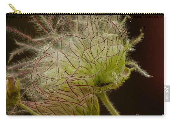 Quirky Red Squiggly Flower 3 Carry-all Pouch