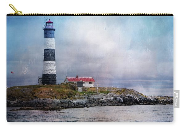 Lighthouse At Race Rocks Carry-all Pouch