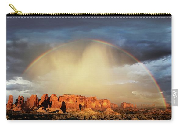 Rainbow Over Garden Of Eden Carry-all Pouch