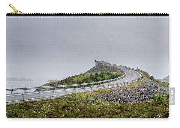 Carry-all Pouch featuring the photograph Rainy Day On Atlantic Road by Dmytro Korol