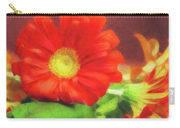 Red Flower Carry-all Pouch