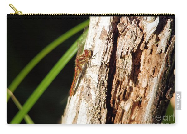 Resting Dragonfly Carry-all Pouch