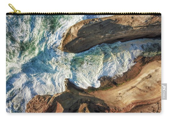Rocks And Waves Carry-all Pouch