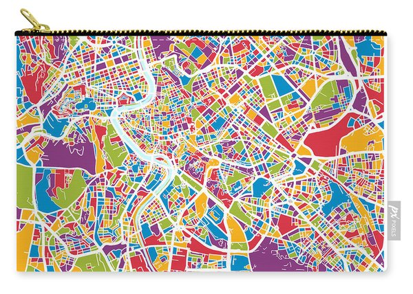 Rome Italy Street Map Carry-all Pouch