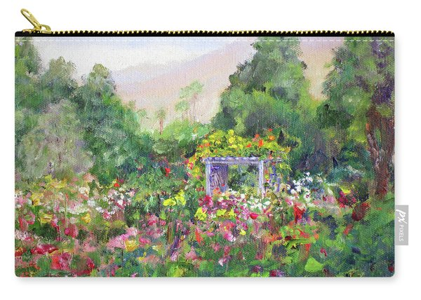 Rose Garden In Bloom Carry-all Pouch