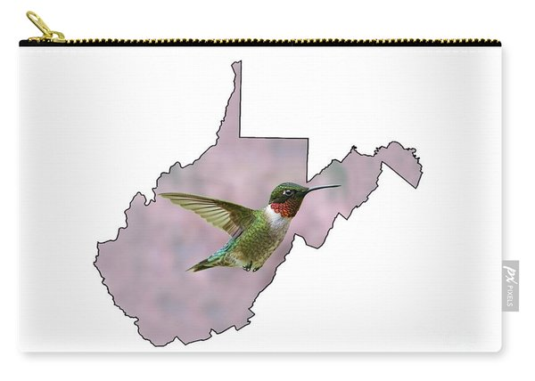 Ruby-throated Hummingbird  Beautiful Coloring Carry-all Pouch