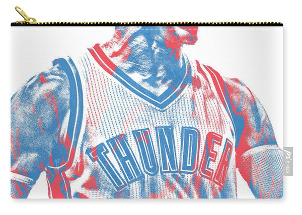 Russell Westbrook Oklahoma City Thunder Pixel Art 31 Carry-all Pouch