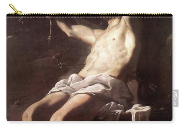 Saint Sebastian By Mattia Preti Carry-all Pouch