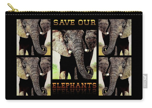 Save  Our  Endangered  Elephants Carry-all Pouch