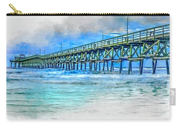 Sea Blue - Cherry Grove Pier Carry-all Pouch