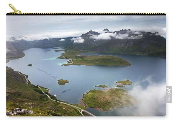Selfjord And Torsfjord From Volandstinden Carry-all Pouch