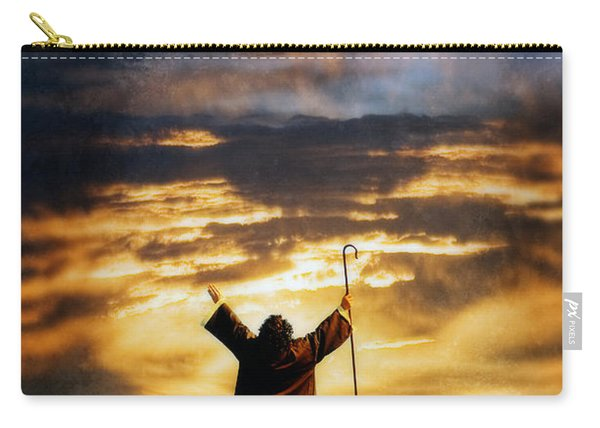 Shepherd Arms Up In Praise Carry-all Pouch