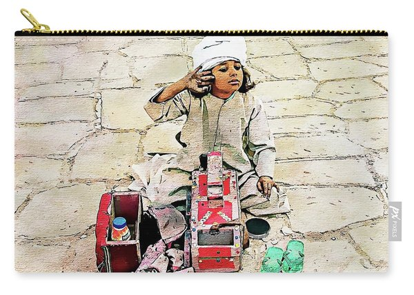 Shoeshine Girl - Nile River, Egypt Carry-all Pouch