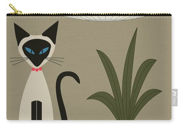 Siamese Cat On Tabletop Carry-all Pouch