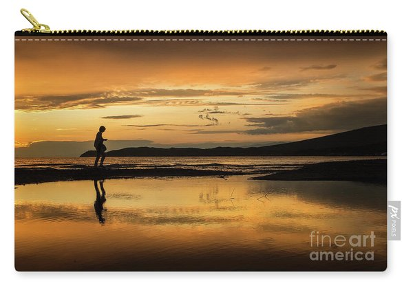 Silhouette In Sunset Carry-all Pouch