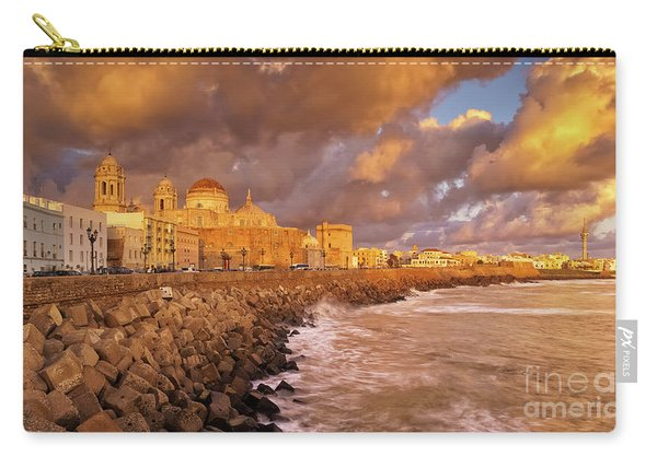Skyline From Campo Del Sur Cadiz Spain Carry-all Pouch