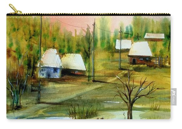 Sleepy Village Carry-all Pouch