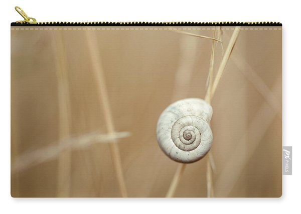 Snail On Autum Grass Blade Carry-all Pouch