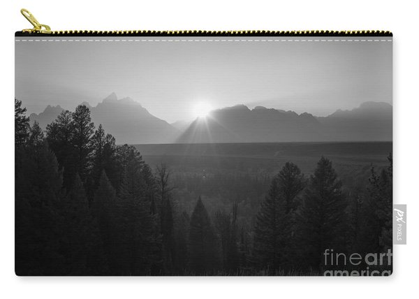 Snake River Sunset Bw Carry-all Pouch